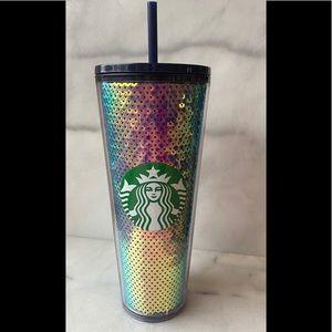 Starbucks 2020 Dark Sequin Black Tumbler Cup